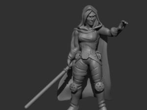 Sara Kade Space Knight (Cloak and Hood)