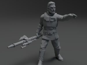 Authority Agent Kaiser miniature ( no helmet)