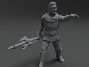 Authority Agent Kaiser miniature ( no helmet)